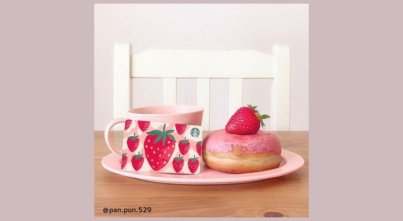 史上最強に可愛いイチゴのスタバカードが見逃せない♡新作イチゴフラペチーノも紹介!