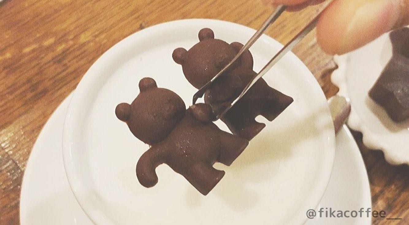 くまチョコミルクが話題の福岡カフェ【FIKA COFFEE(フィーカコーヒー)】遠くて行けない方のために、お家でくまチョコを作る方法も♡