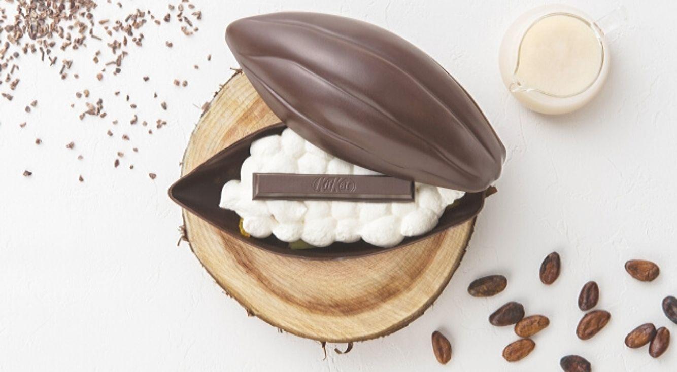 「キットカット ショコラトリー カカオフルーツ デセール」1日限定10食を銀座本店で提供