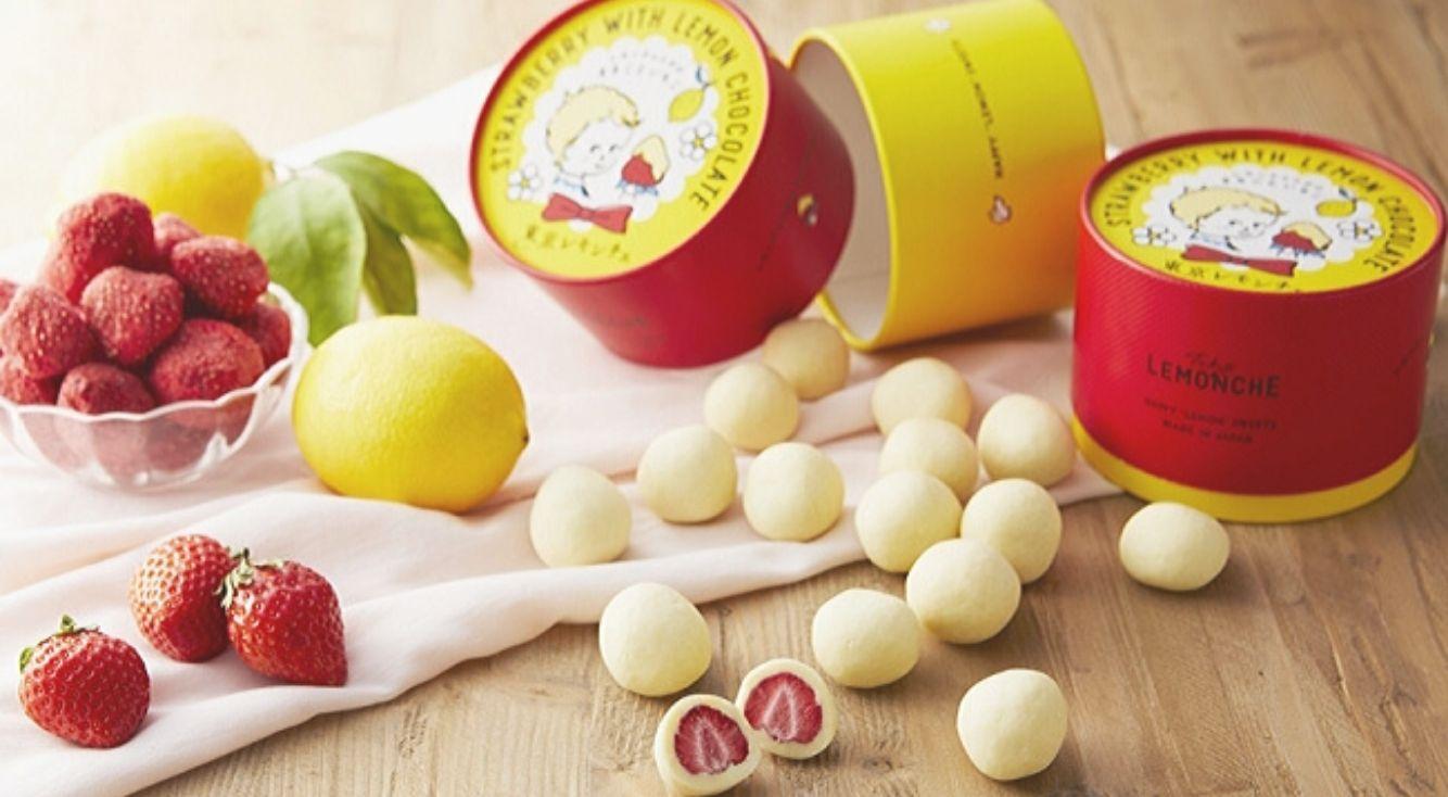 赤と黄色のコントラスト♡東京レモンチェの『レモンチョコがけまるごといちご』