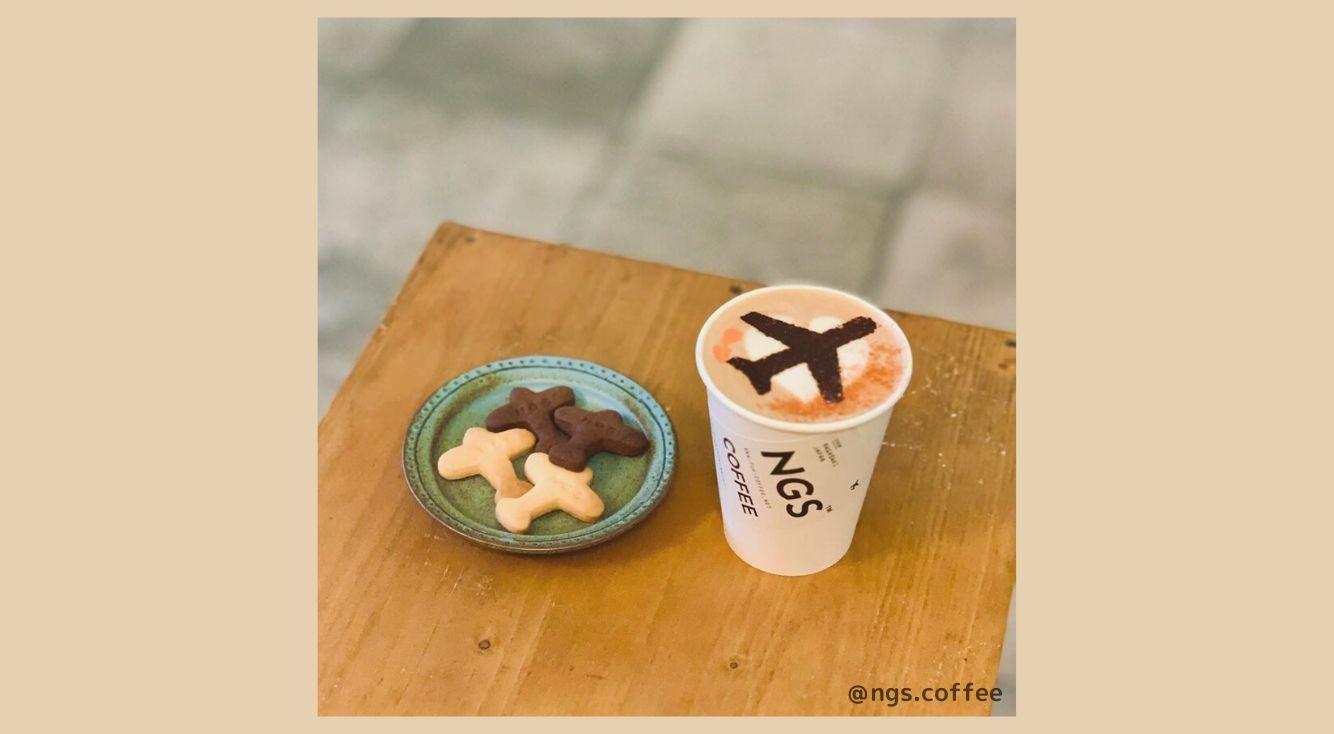 長崎カフェ『NGS COFFEE(エヌジーエスコーヒー)』のフライトラテアートがかわいい!