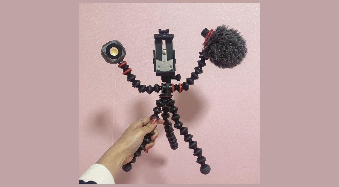 【スマホ三脚】YouTubeやTikTokを本気で始めたいなら、JOBYのゴリラポッド モバイル ブイロギング キットが最強♡