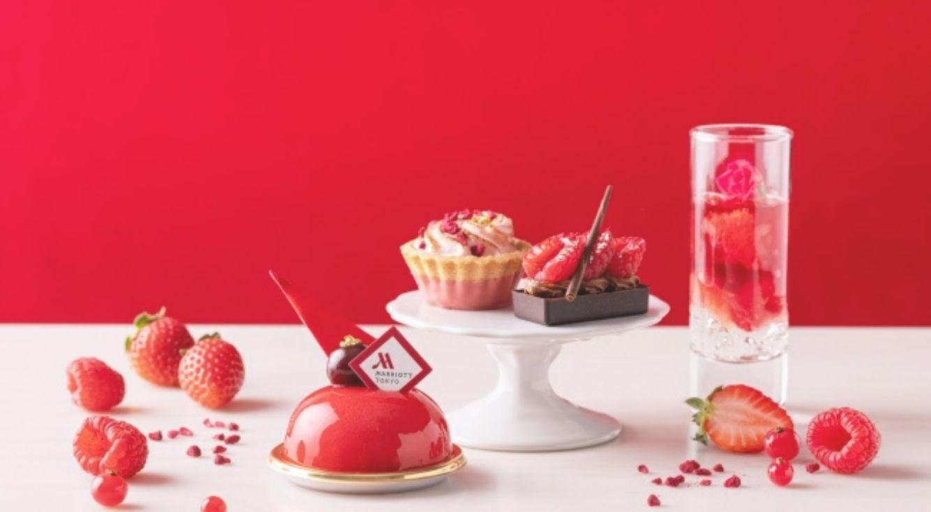 東京マリオットホテル『TOKYO RED Afternoon Tea(トウキョウ レッド アフタヌーンティー)』 の、レッドカラーに染まる華やかなスイーツ&セイボリー