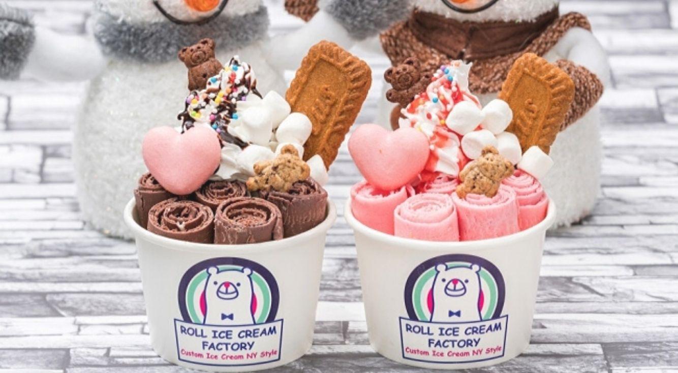 ロールアイスクリームファクトリーのバレンタインメニュー!ハートのマカロンが可愛い♡