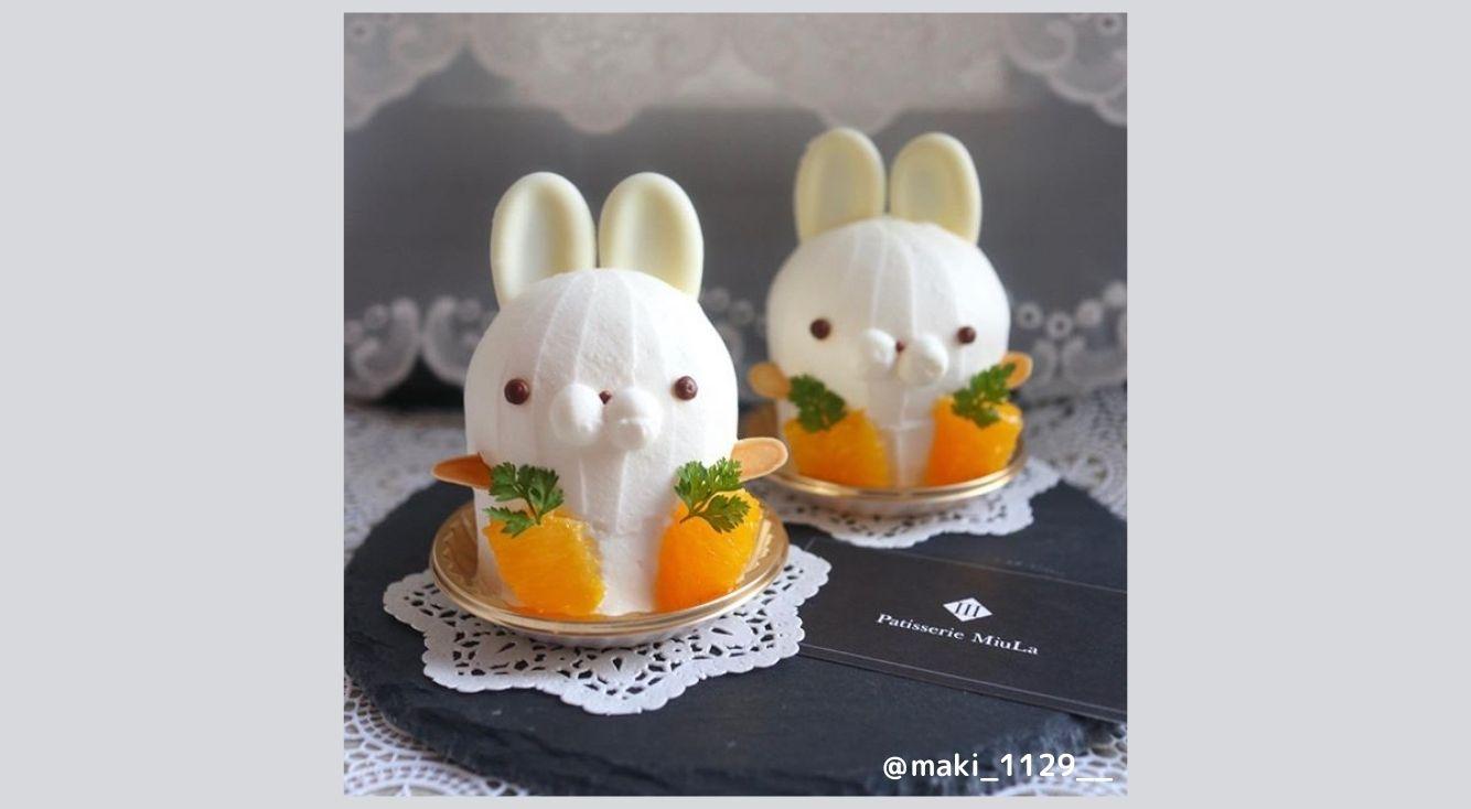 うさぎ好きさん必見!名古屋「Patisserie MIULA(パティスリーミウラ)」の白うさぎケーキが可愛すぎる…♡