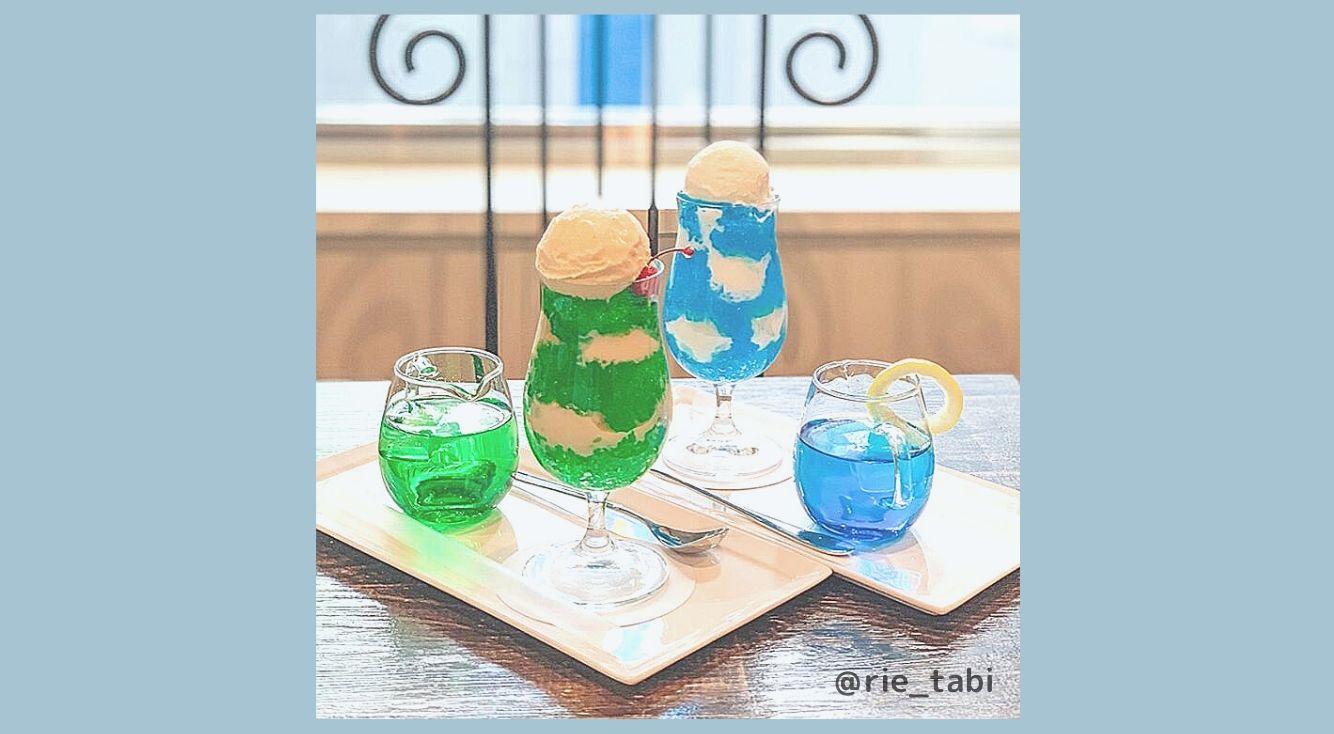 新宿にある『No.13cafe サーティーンカフェ』のクリームソーダが激かわいい♡