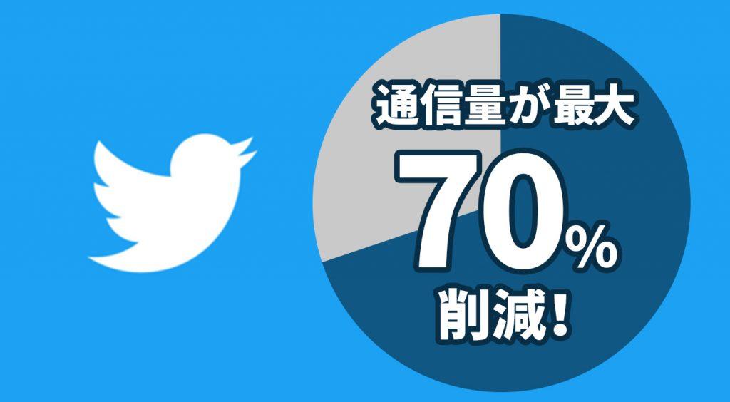 Twitterのデータ量70%カット!低速にビビる生活さよなら!