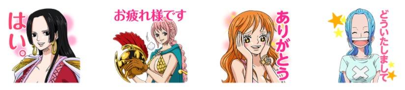 LINEスタンプ第3弾の女性キャラクターたち