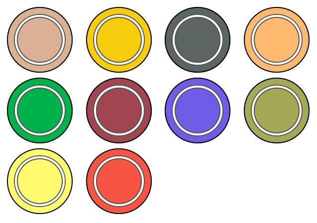 パレットに集まった色