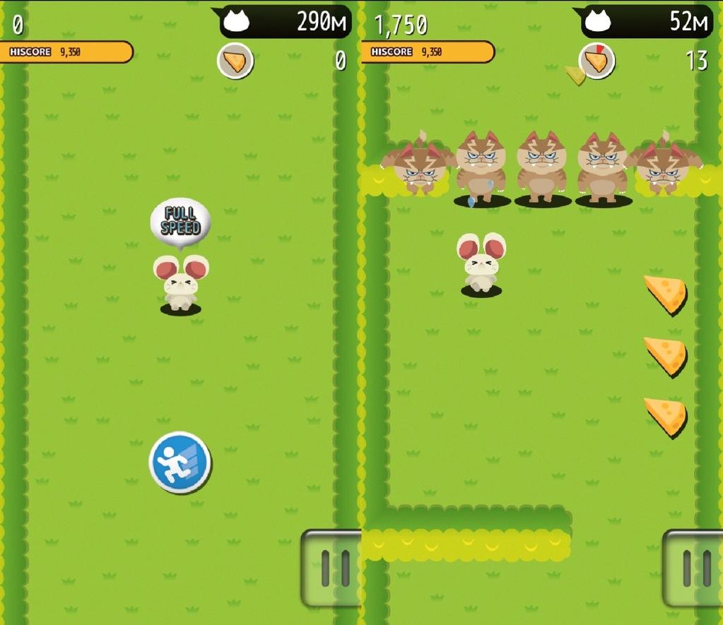 アクションカジュアルゲームドタバタラッシュのプレイ画面