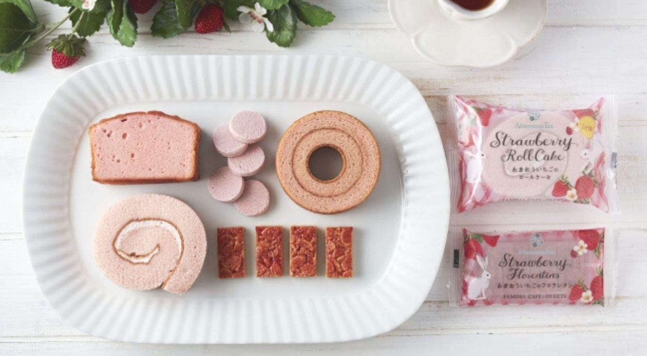 Afternoon Tea監修・あまおう苺の新作スイーツが全国のファミリーマートで順次発売
