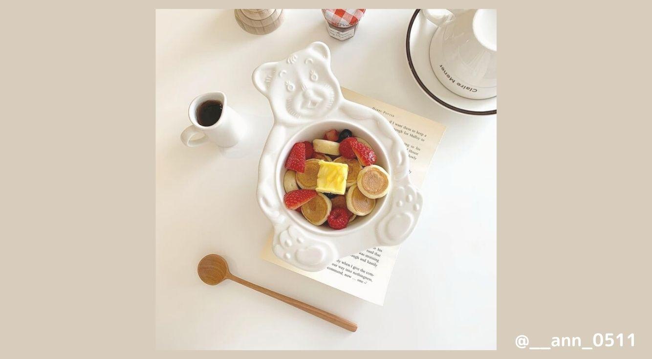 おうちカフェが楽しくなる♡韓国でも大人気の『くまさんボウル』や映えるお皿を紹介!