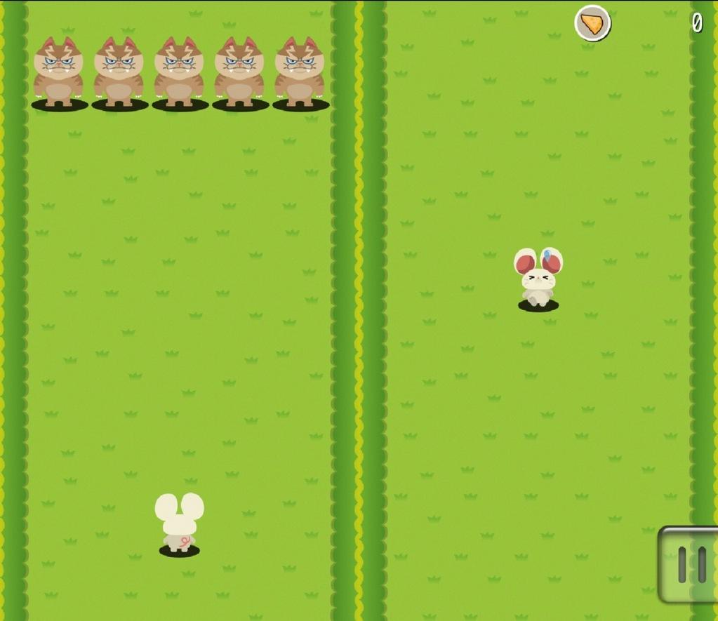 アクションカジュアルゲームアプリドタバタラッシュのゲーム画面