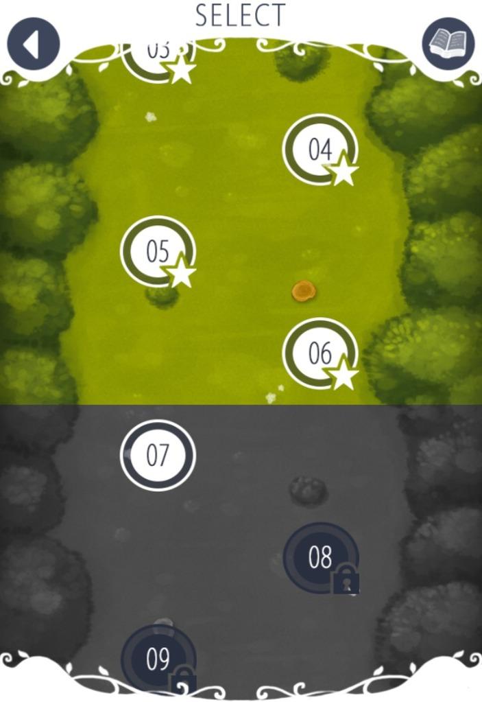 シルエットクイズのステージ選択画面