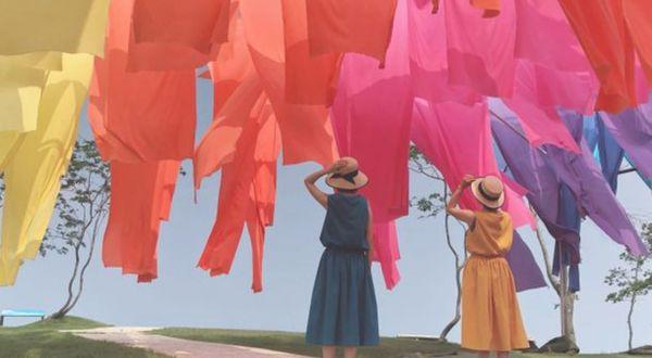 高島ちぢみの虹のカーテン!250万輪のゆりと琵琶湖の絶景も楽しめる場所♡