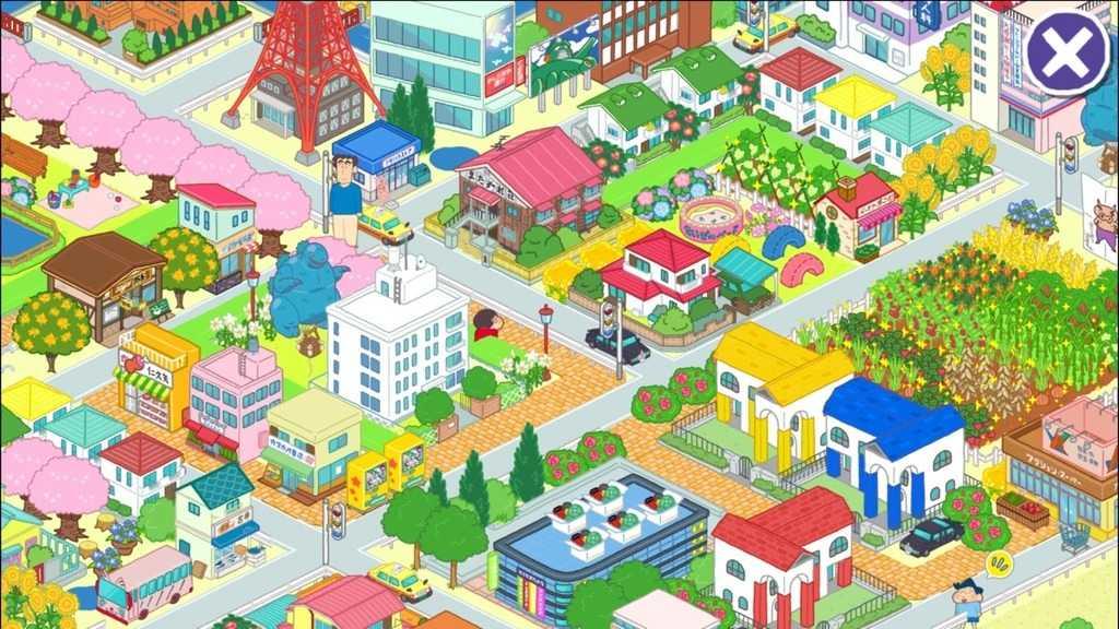 しんちゃんアプリ「カスカベシティ大開発」