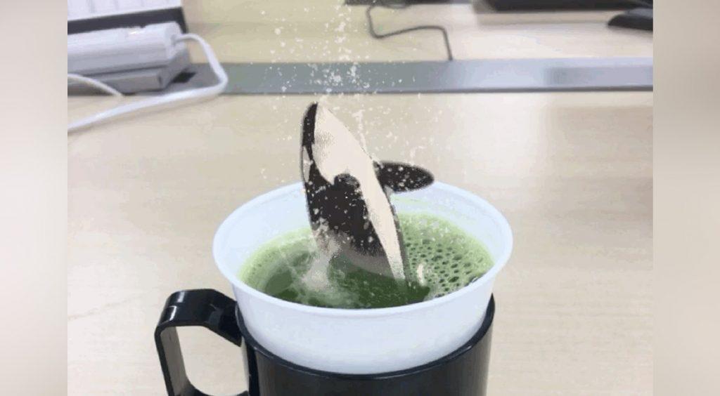 【Camera360】CG風加工で地面が割れる!燃える!お茶からシャチ!?ダイナミック写真を作ろう