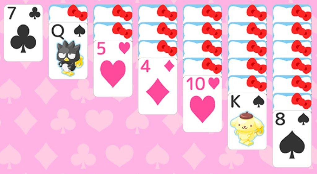 定番トランプゲームも、キティちゃんならこんなにかわいく♡【ハローキティトランプ〜ソリティア〜】