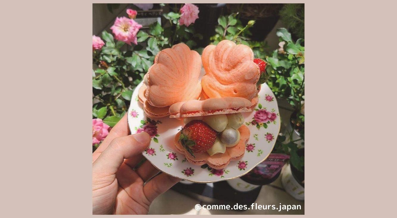 """【大阪・鶴橋】韓国カフェバー""""COMME DES FLEURS(コム・デ・フルール)""""で可愛いトゥンカロンが楽しめる♪"""
