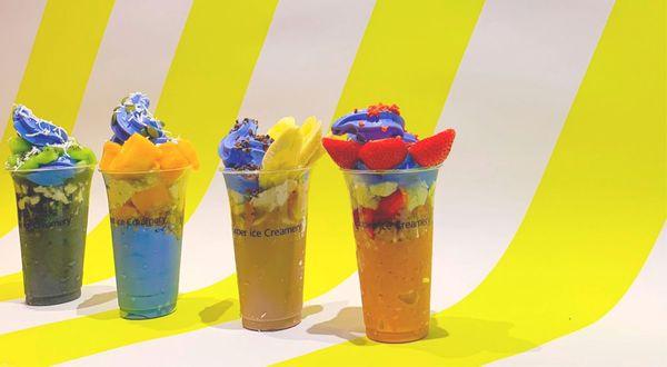 真っ青なソフトクリームが映える♡『Super ice Creamery』を一足お先に体験してきました!