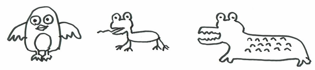 何種類か動物を描いて終了