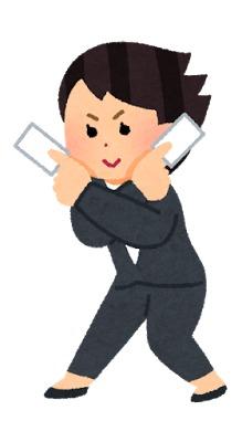 名刺を配りまくる女性イラストイメージ