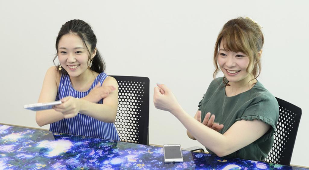 レジェンヌの声優門山葉子さんと上間江望さん