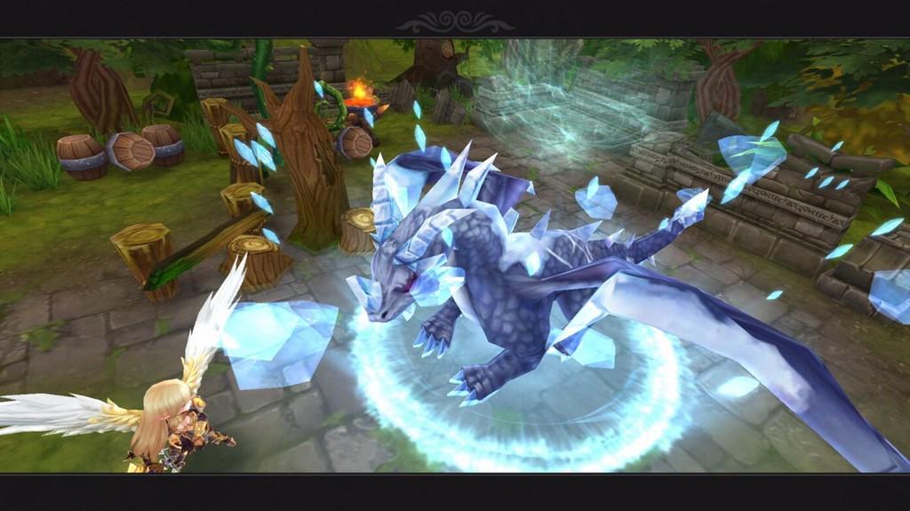 美麗ドラゴンのMMOはエレメンタルファンタジー