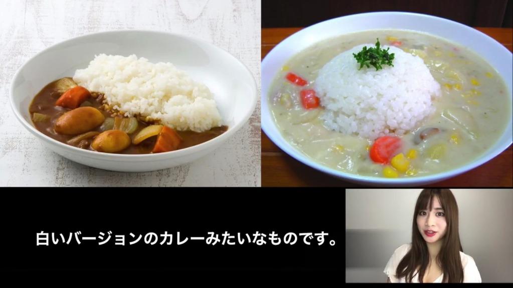 日本人はシチューをカレーのようにご飯と合わせる事を解説するMasimas(マシマス)のお姉さん