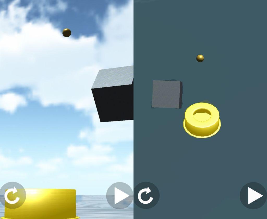 ボールをゴールに導く3D物理パズルゲーム