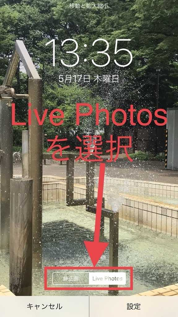 Live Photos(ライブフォト)で撮った動画をロック画面に設定する方法