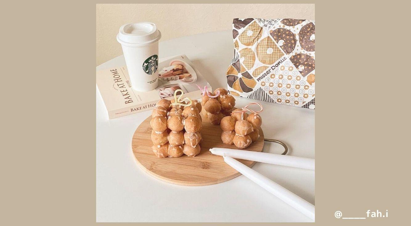 おうちカフェで使えるミスドアレンジメニューを紹介♡ひと手間かけるだけでぐっとお洒落に!