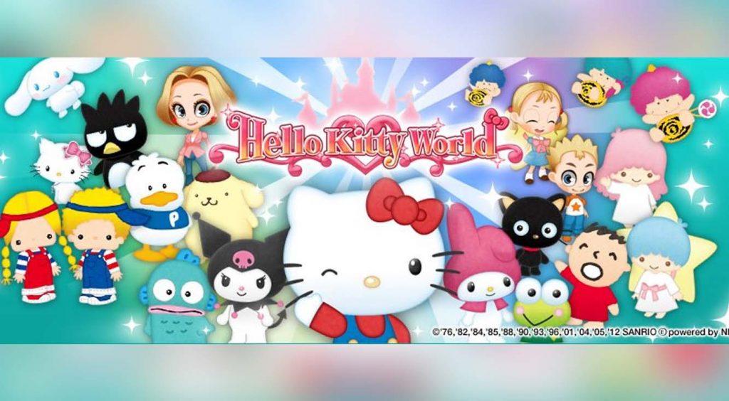 【ハローキティ ワールド】デコって楽しむ♡ かわいい遊園地ゲーム