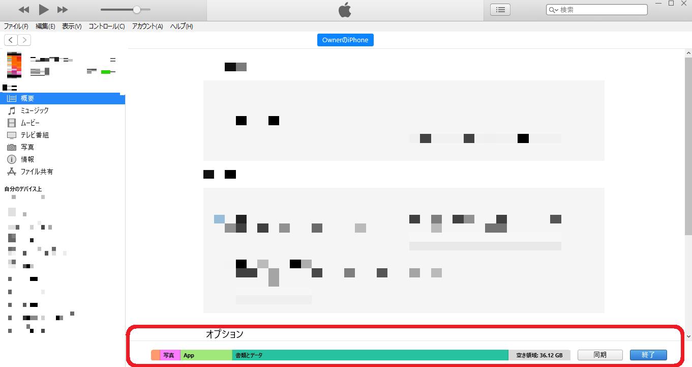 iTunes容量