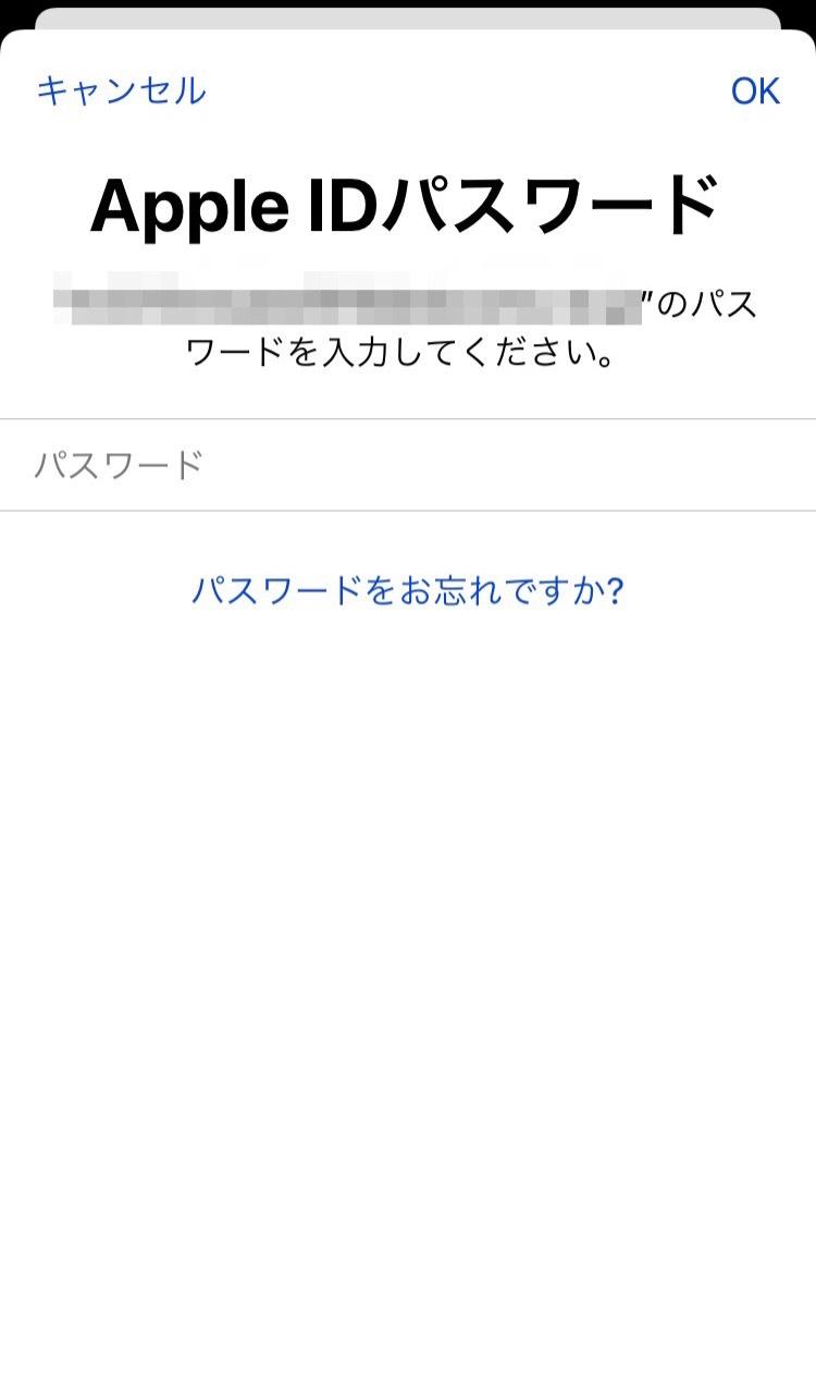 Apple IDパスワード