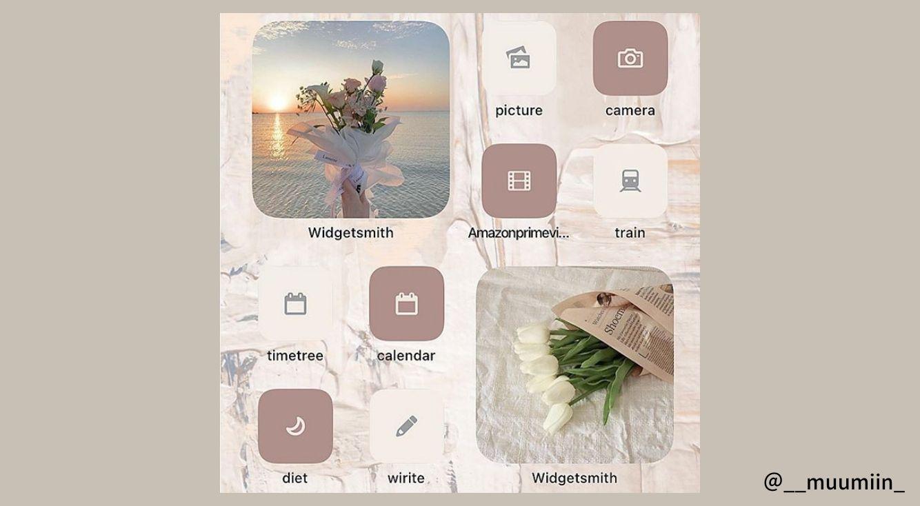 iPhoneのかわいいホーム画像素材の集め方!ウィジェットやアイコン素材としても使える【iOS14】
