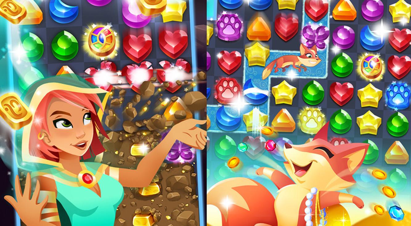 キラキラいっぱい夢いっぱい♡宝石と魔法のキュートなパズル【マジックジュエル】 :PR