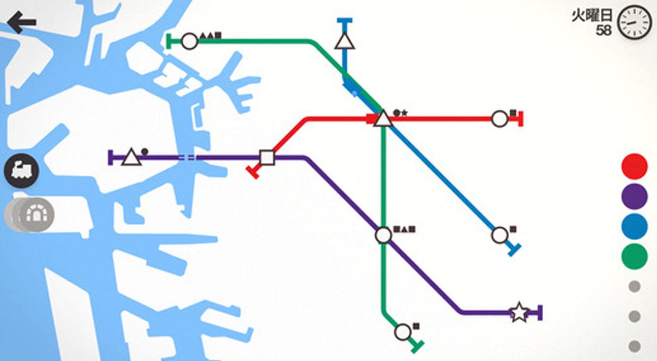 レールを敷いて地下鉄網を発展させよう!【Mini Metro】