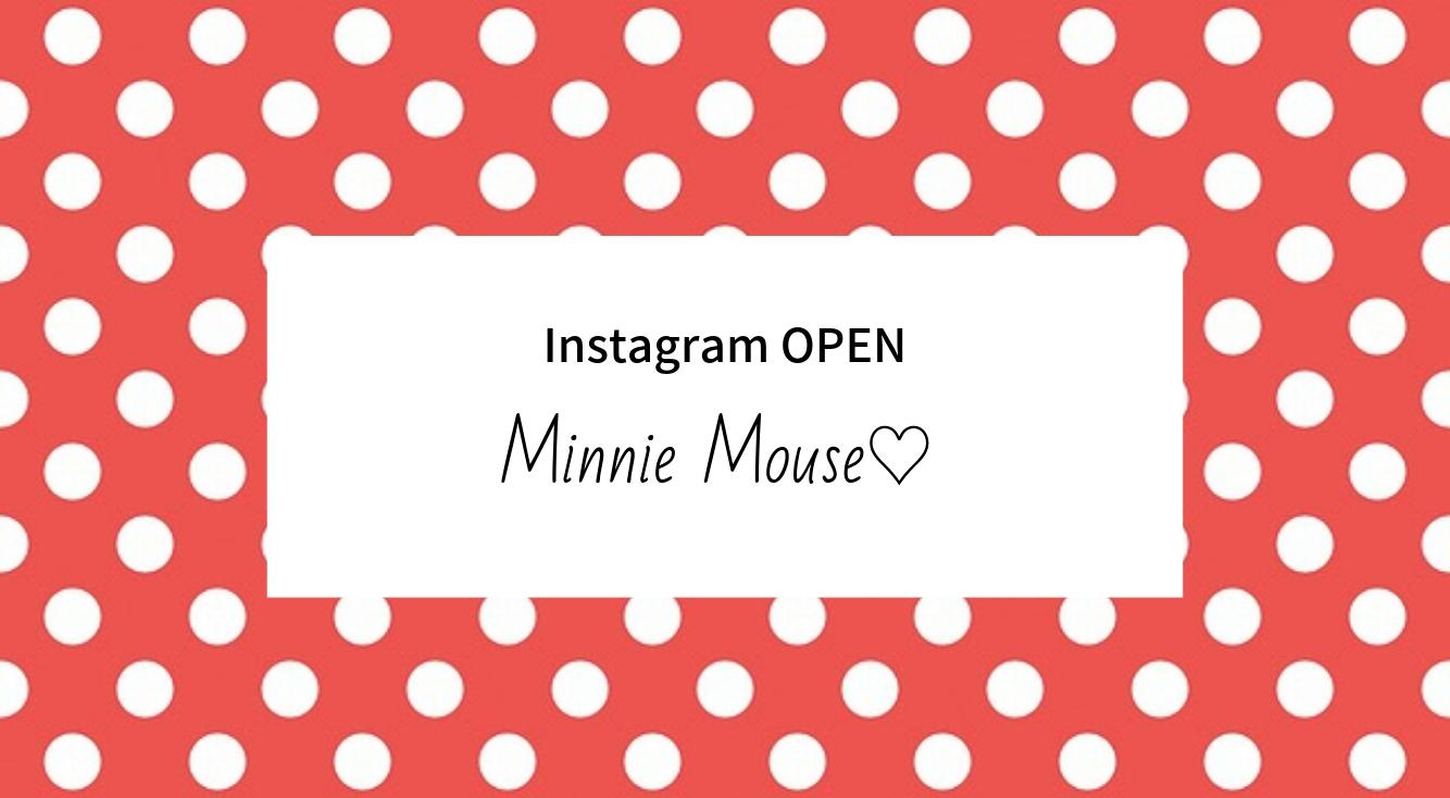 世界中の憧れの的♡ミニーちゃんの公式インスタアカウントがオープン♡