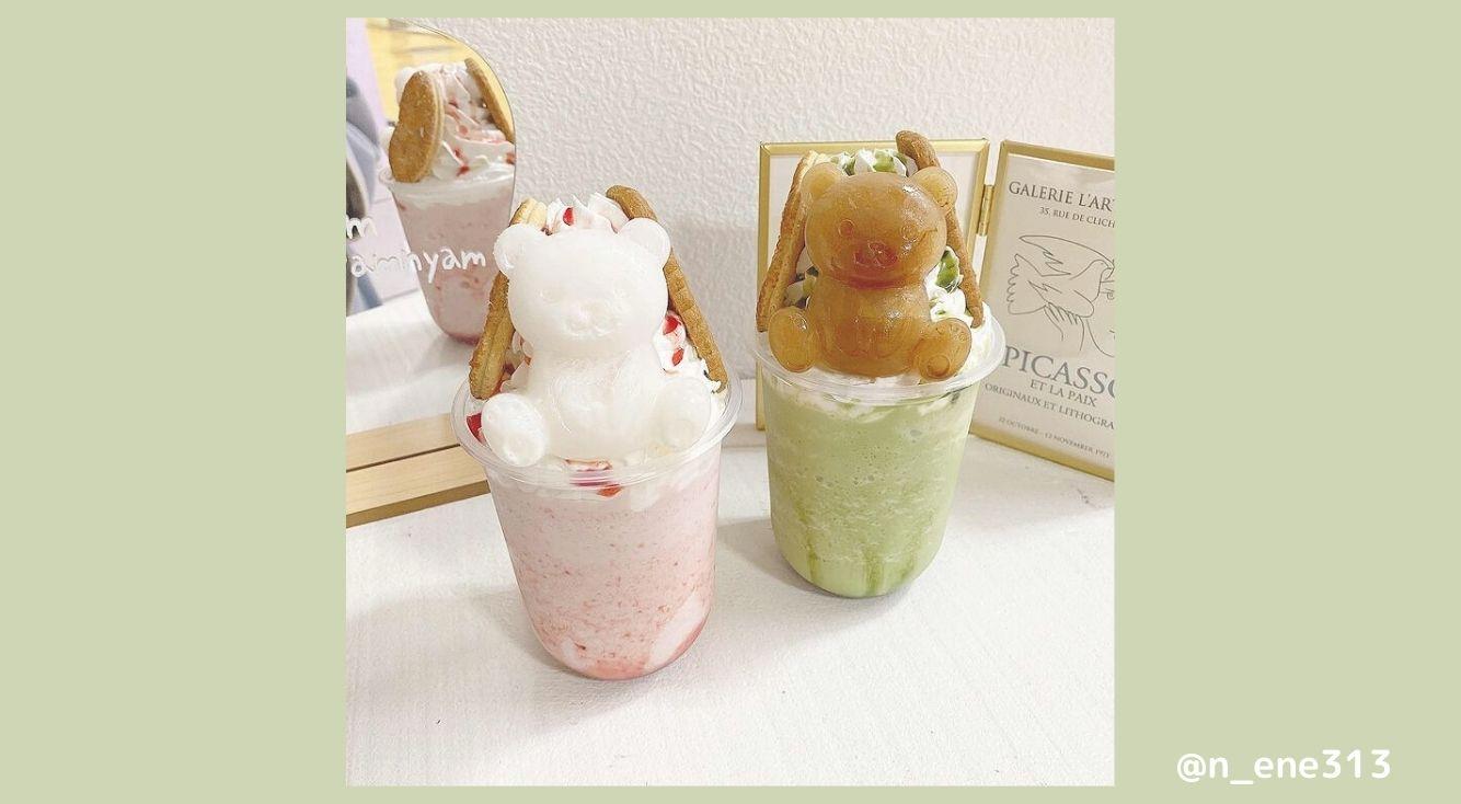 名古屋・大須の韓国っぽカフェ「Nyamnyam(ニャムニャム)」の可愛すぎる「クマさんフラッペ」がインスタ映え♡