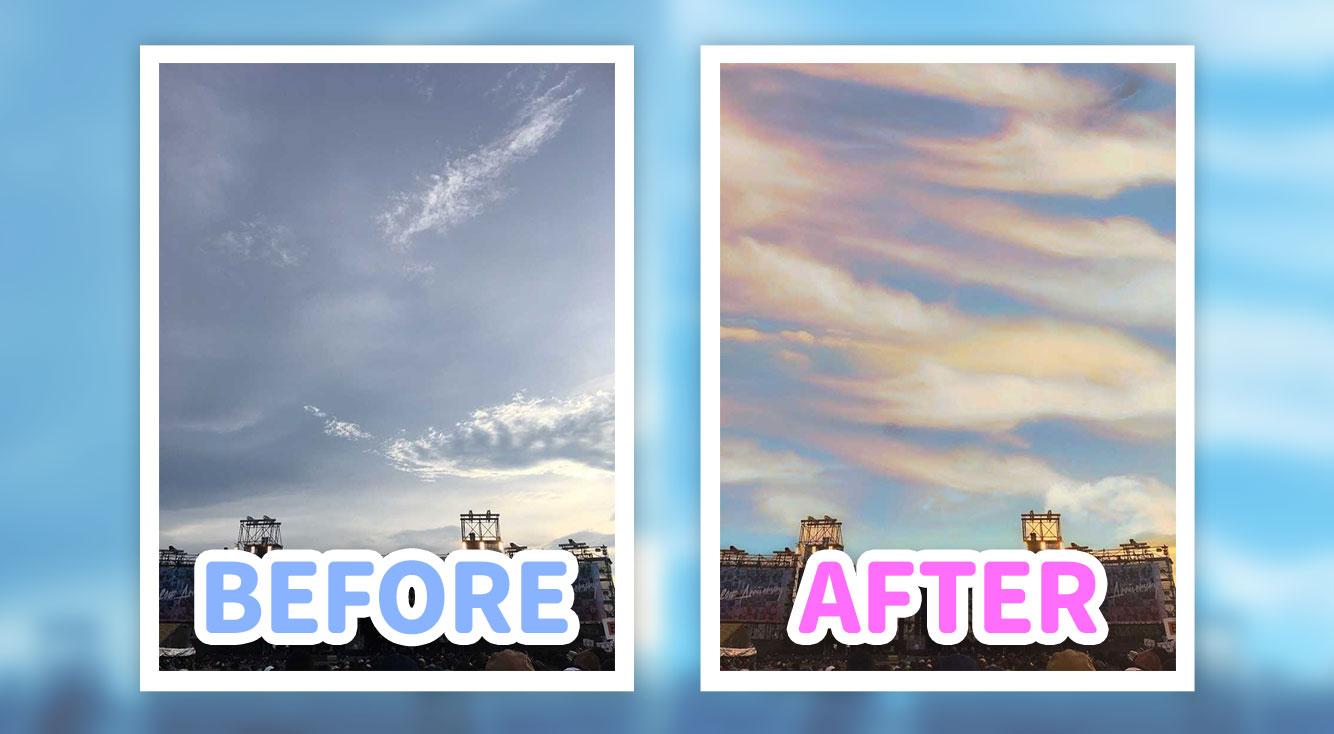 【画像補正】曇り空を晴れ空に!自撮りをもっと鮮明に!超簡単操作で画像補正ができるアプリ「Enlight Quickshot」
