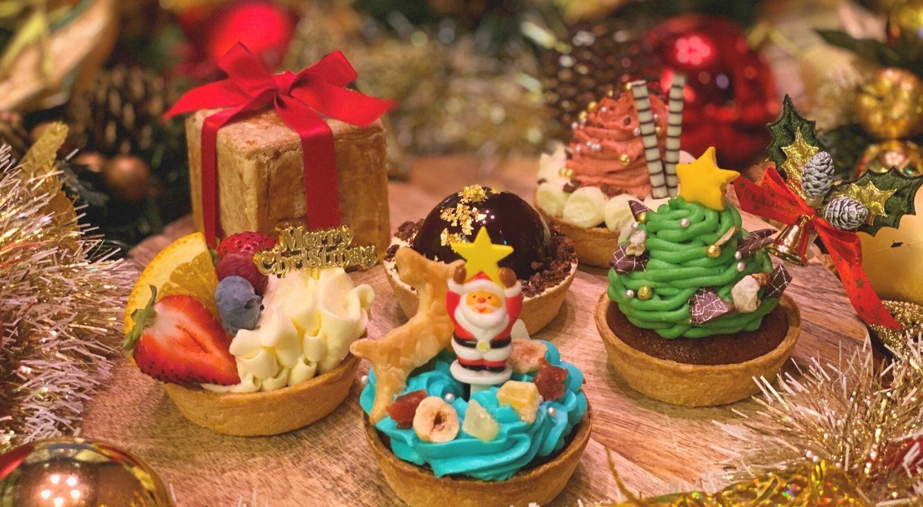 「パイホリック」から、おもちゃ箱のようなクリスマス限定スイーツ登場!ツリーやプレゼントをモチーフにした手のひらサイズのパイケーキセット