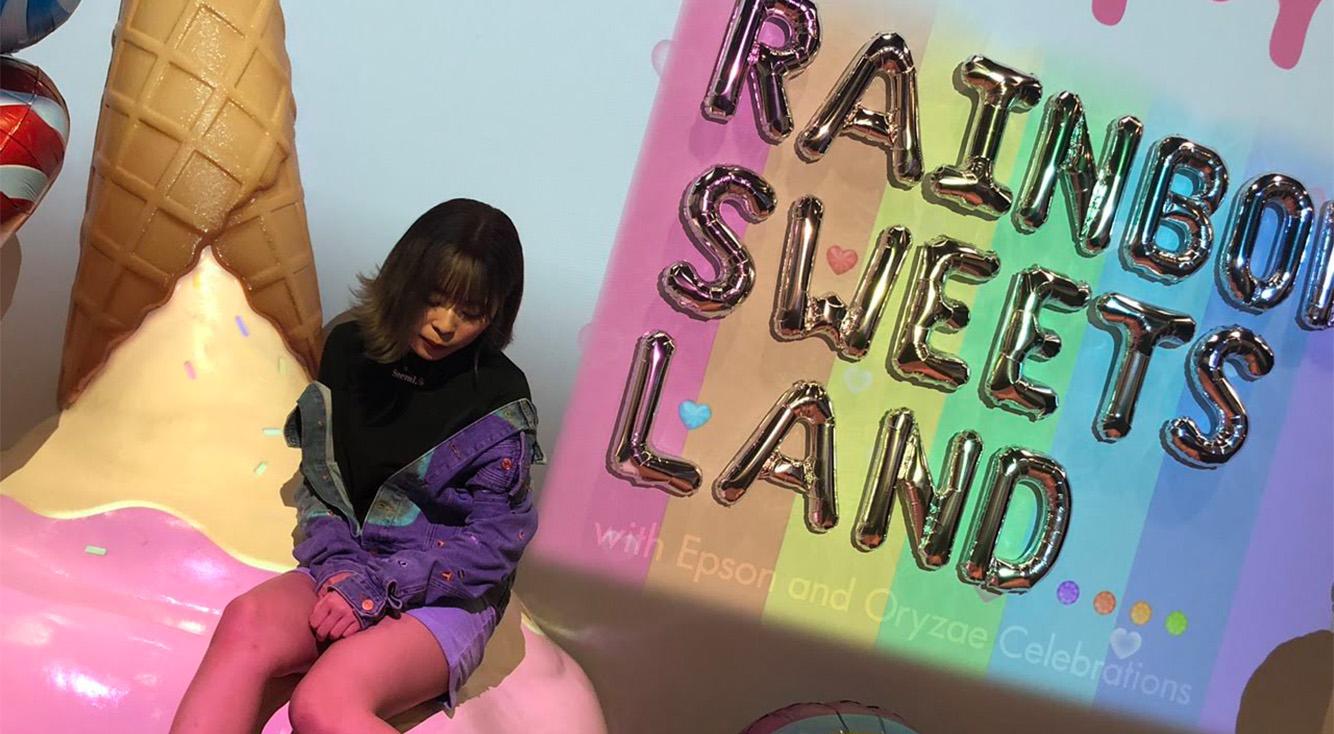 東京ソラマチで今日から始まった可愛いフォトジェニックスポット、RAINBOW SWEETS LANDに早速いってきたよ♥