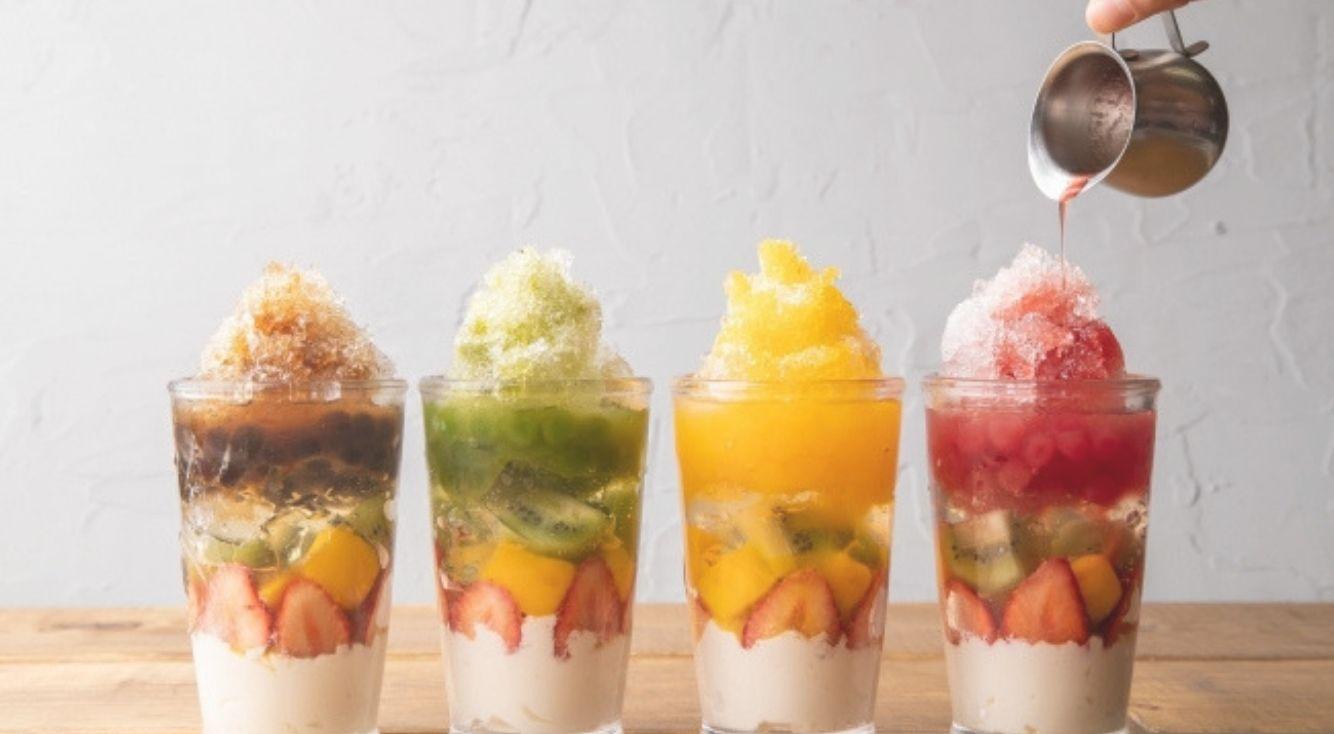 【かき氷×タピオカ】食べて飲める『フルーツタピ氷』が4つのフレーバーで新登場♡